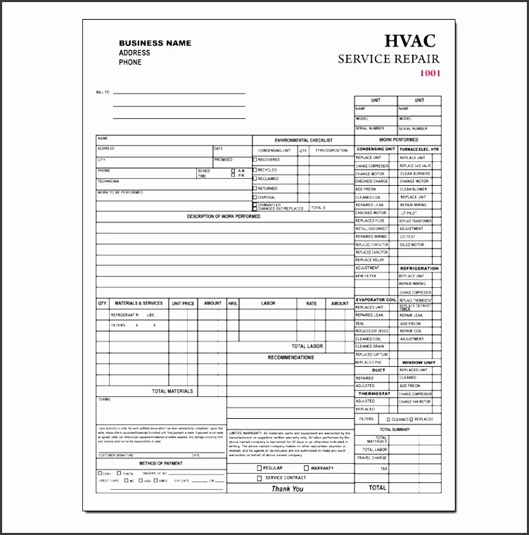Hvac Service order Invoice Template Elegant 9 Contractor Invoice Template In Editable form