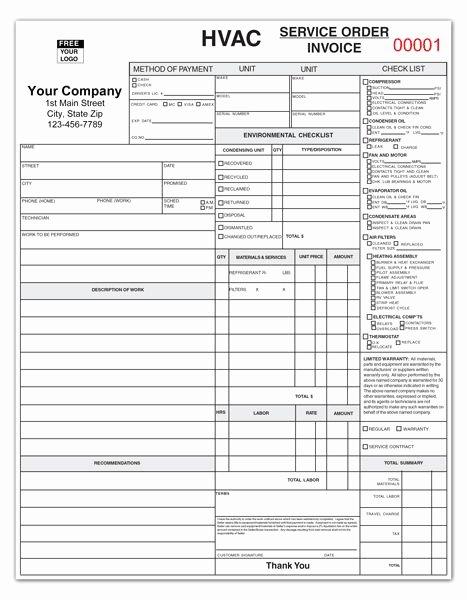 Hvac Service order Invoice Template Elegant Ticket On Pinterest