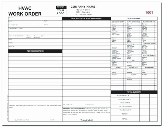 Hvac Service order Invoice Template Fresh Hvac Invoices Template – Royaleducationfo