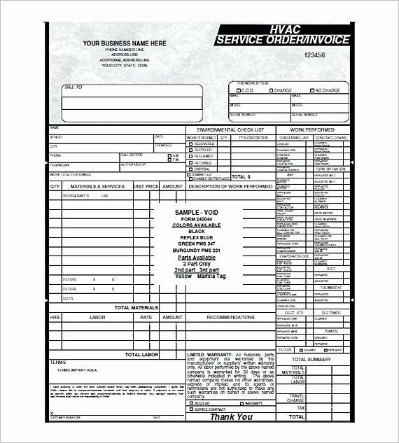 Hvac Service order Invoice Template Inspirational Hvac Service order Invoice Templates Hvac Invoice
