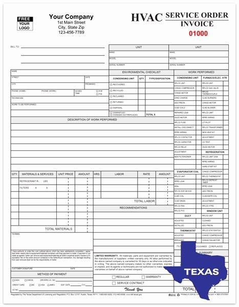 Hvac Service order Invoice Template Lovely Hvac Service Invoices