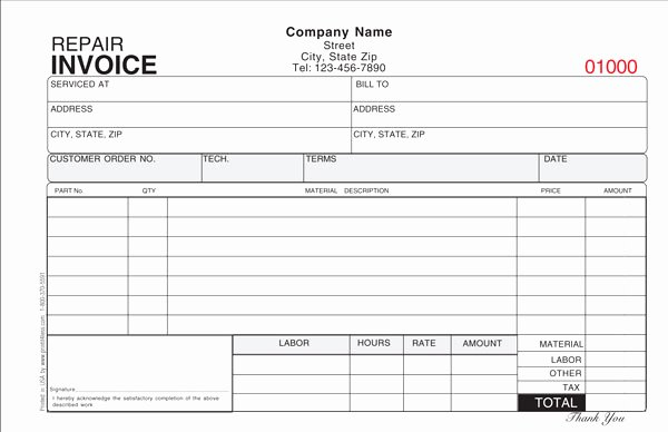 Hvac Service order Invoice Template Lovely Hvac Service order Invoice Template or Repair Invoice