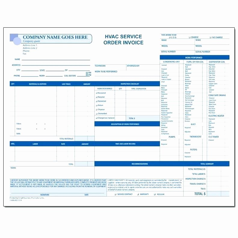 Hvac Service order Invoice Template Luxury Hvac Invoices Template – Royaleducationfo