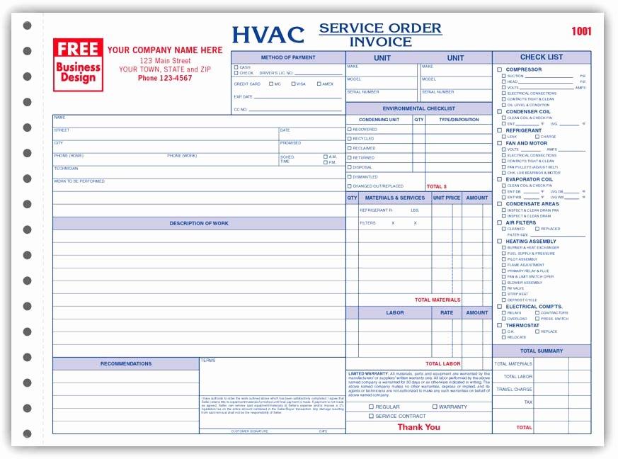 Hvac Service order Invoice Template Unique Hvac Service order Invoice Template