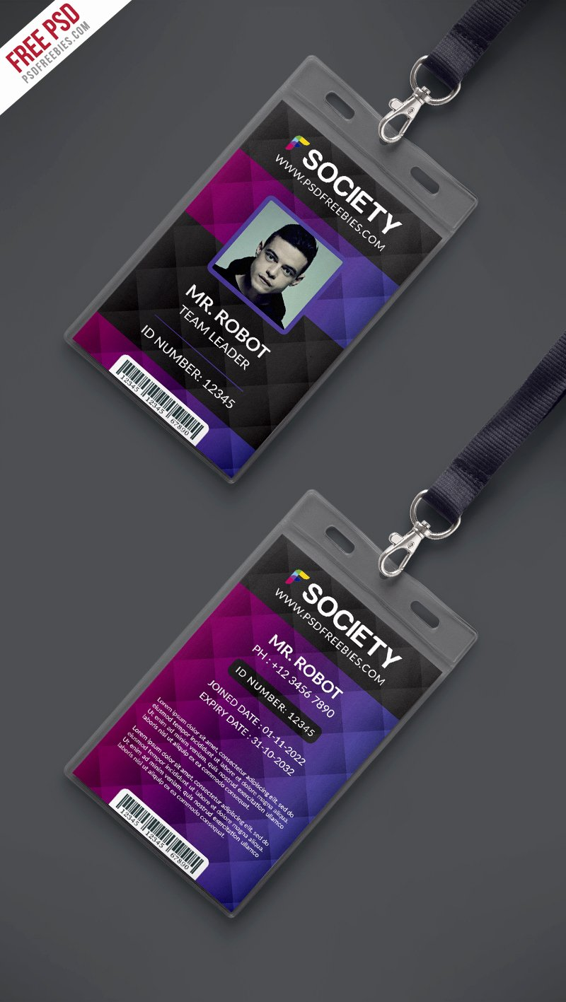 Id Badge Template Photoshop Best Of Id Card Design Template Psd Photoshop Id Card Template