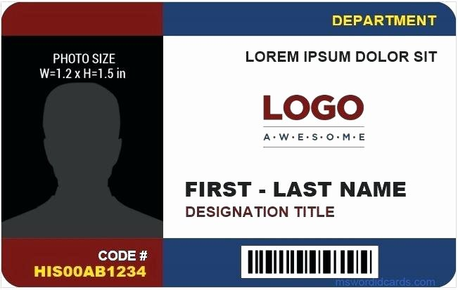 Id Badge Template Photoshop Best Of Id Card Templates Free Sample Example format Download