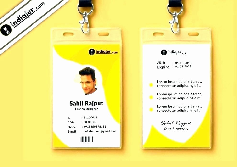 Id Badge Template Photoshop Best Of Id Template Photoshop – Shanon