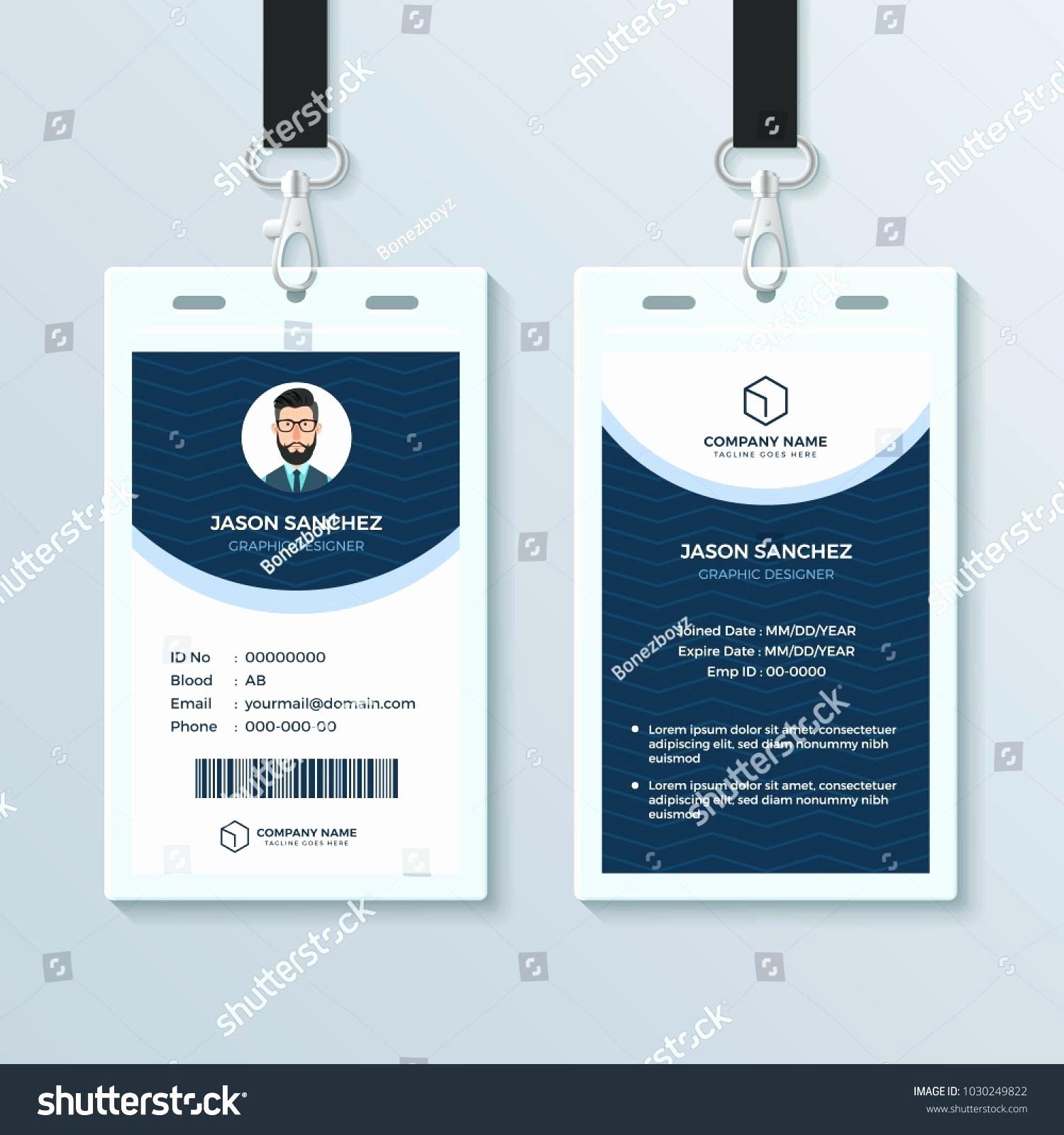 Id Badge Template Photoshop Elegant Employee Id Badge Template