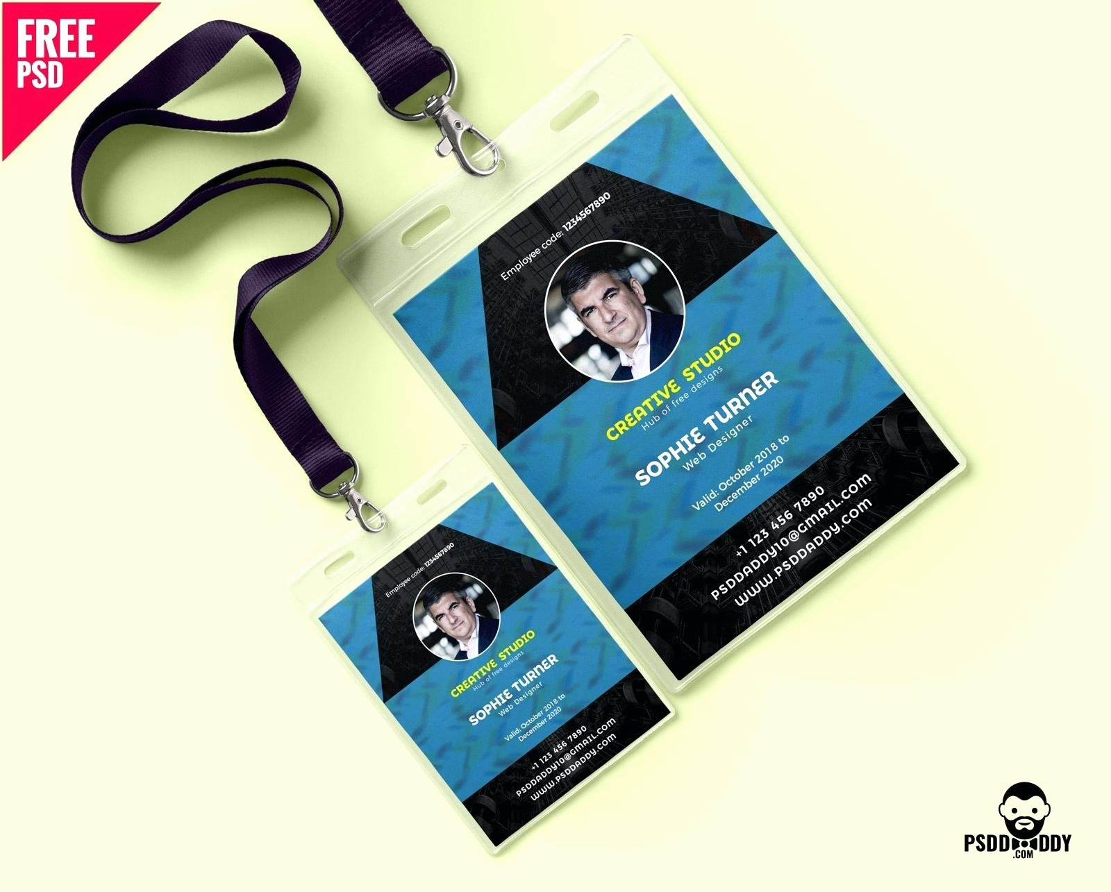Id Badge Template Photoshop Fresh Employee Id Badge Template