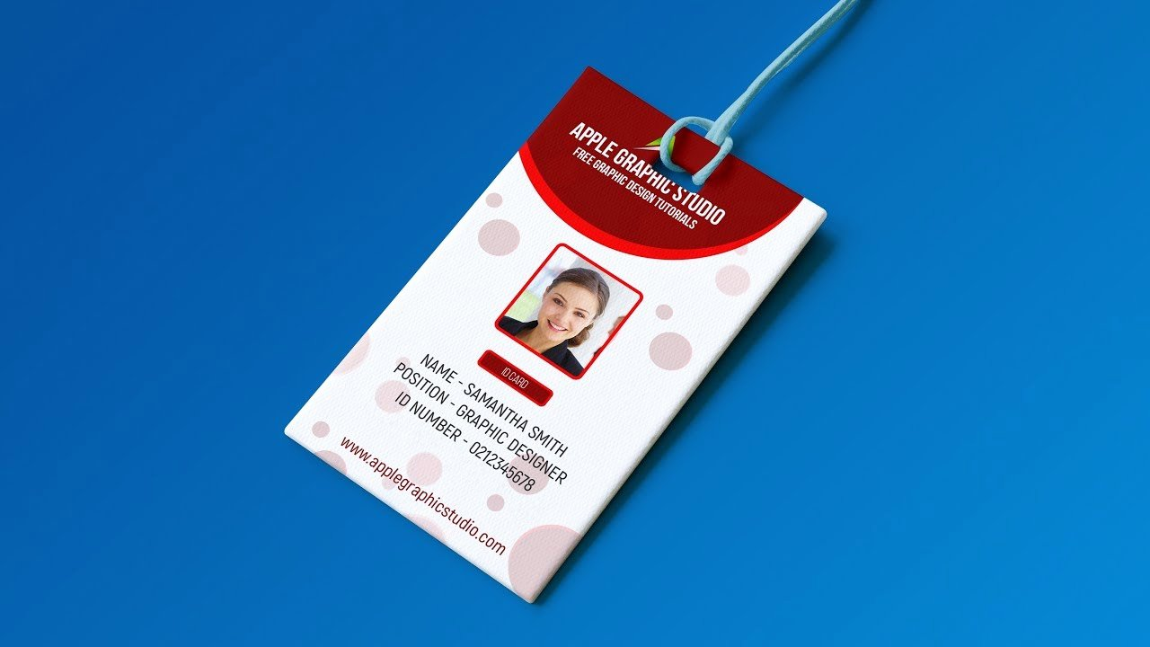 Id Badge Template Photoshop Inspirational Create Professional Id Card Template Shop Tutorial