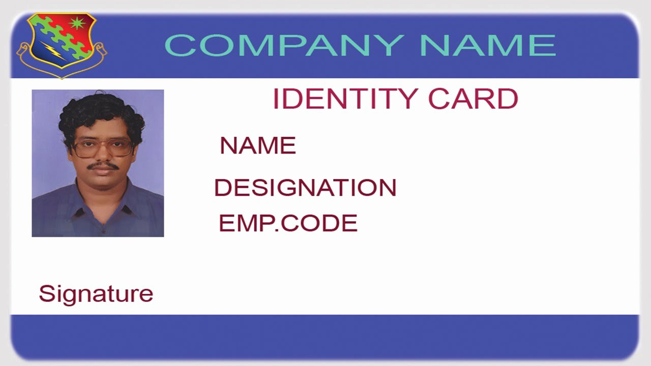 Id Badge Template Photoshop Inspirational How to Design An Id Card Using Shop with English