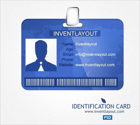 Id Badge Template Photoshop Lovely 29 Id Card Templates Psd