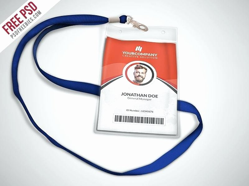 Id Badge Template Photoshop Unique Id Badge Template Free Employee Shop – Arabnormafo