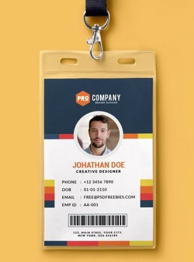 Id Badge Template Photoshop Unique Pinterest