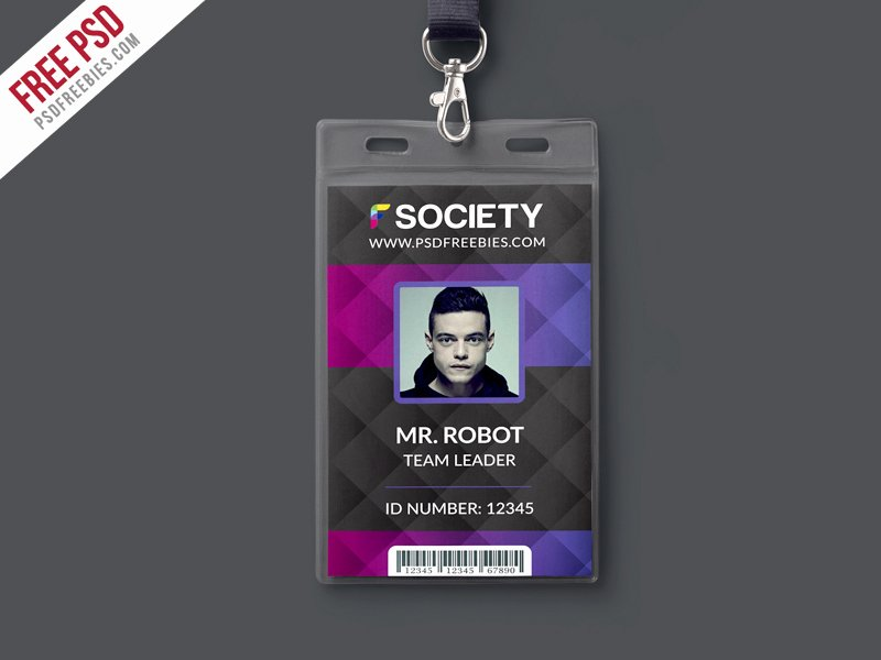 Id Card Template Photoshop Awesome Corporate Fice Id Card Psd Template Download Psd
