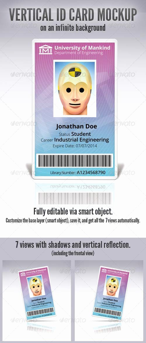 Id Card Template Photoshop Best Of Graphicriver Vertical Id Card