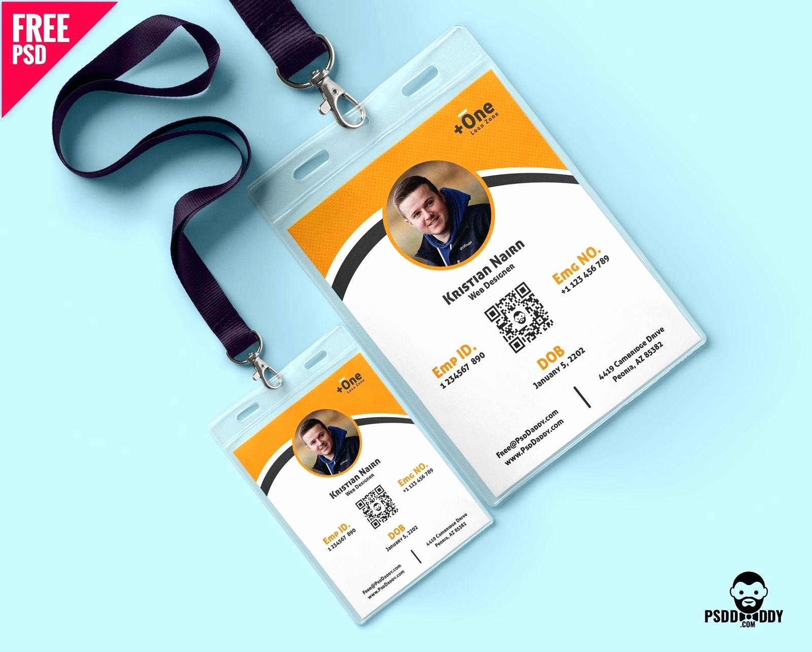 Id Card Template Photoshop Best Of Identification Cards Template