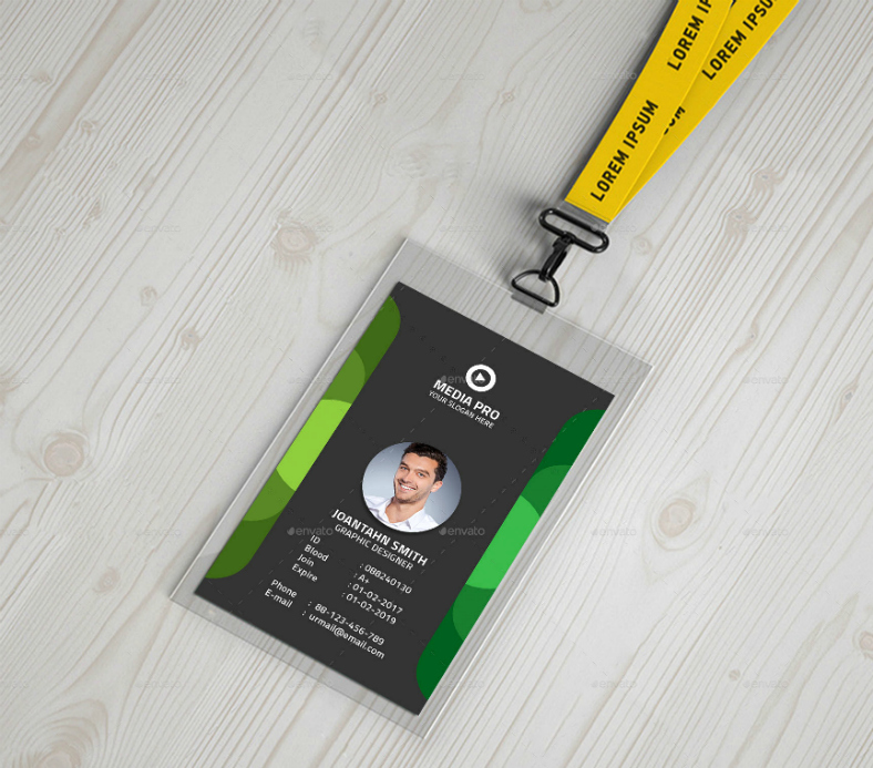 Id Card Template Photoshop Lovely 17 Editable Identification Card Template Designs Psd