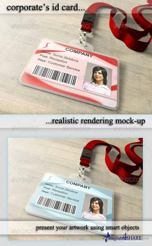 Id Card Template Photoshop Lovely Graphicriver Id Card Holder Mockup Templates4share