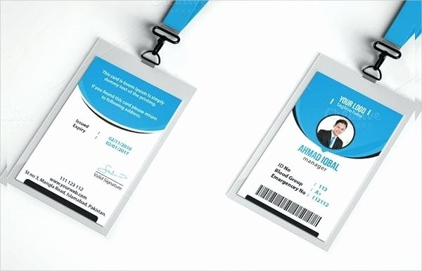 Id Card Template Photoshop Lovely Shop Id Card Template for Identification Templates