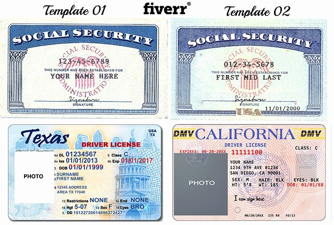 Id Card Template Photoshop New Make A Novelty social Security Card or Driver Licenses