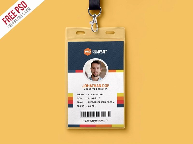 Id Card Template Photoshop Unique Cool Creative Fice Identity Card Template Psd Download