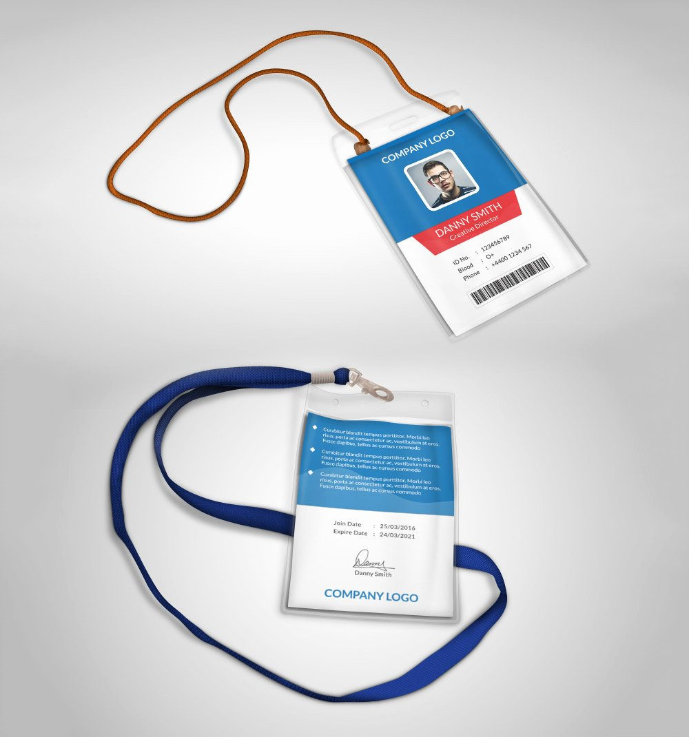 Id Card Template Photoshop Unique Multipurpose Pany Id Card Free Psd Template Download
