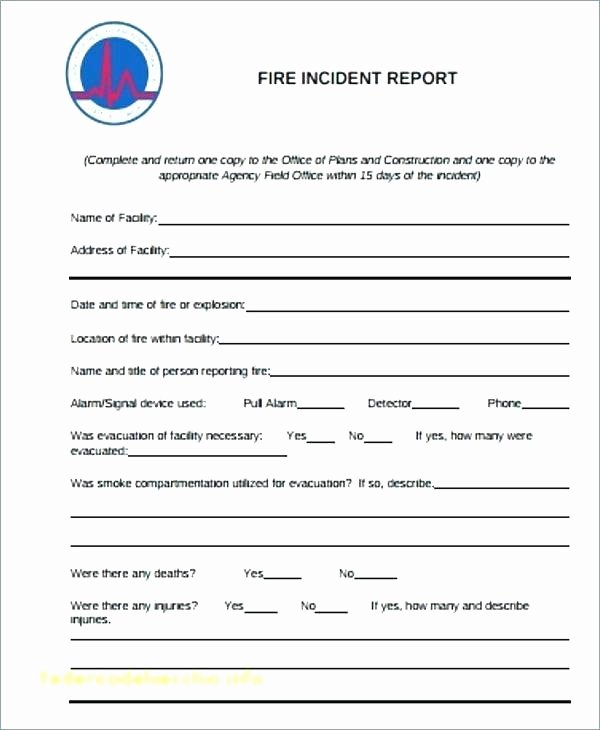 Incident Investigation Report Template Best Of Incident Report Examples Samples Doc Pages Fire