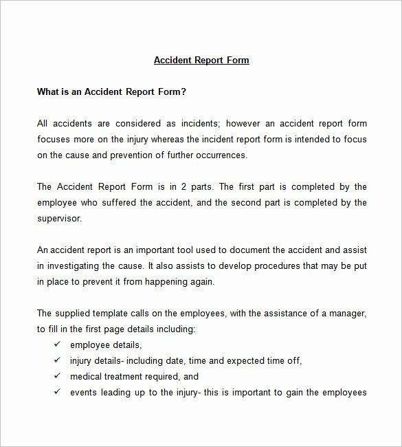 Incident Investigation Report Template New 37 Incident Report Templates Pdf Doc Pages
