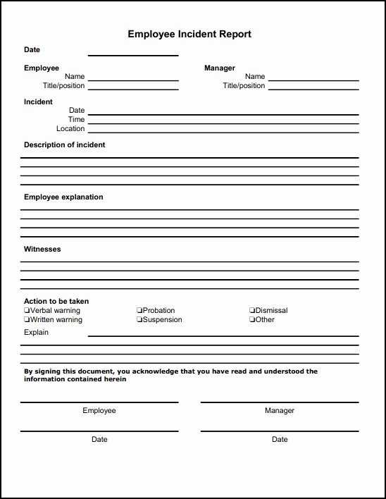 Incident Report Template Microsoft Awesome 13 Incident Report Templates Excel Pdf formats