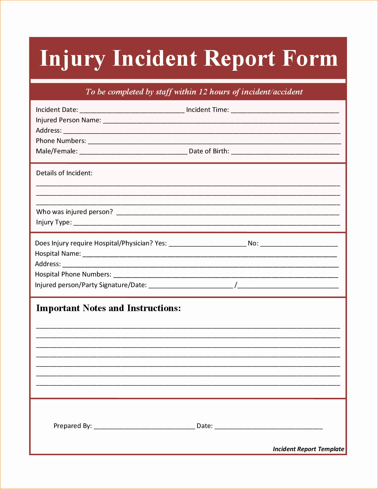 Incident Report Template Microsoft Awesome Incident Report Template Microsoft Word