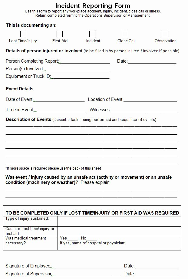 Incident Report Template Microsoft Fresh Wonderful Incident Report Template for Ms Word format V