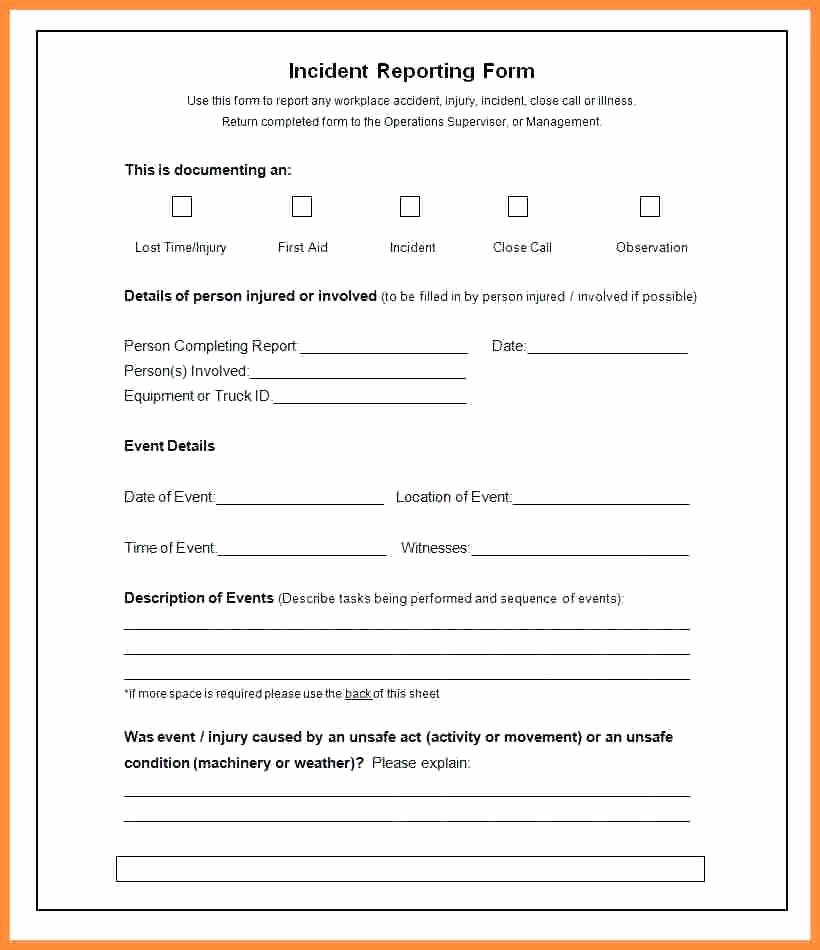 Incident Report Template Microsoft New Incident Report Template Microsoft – Idmanado