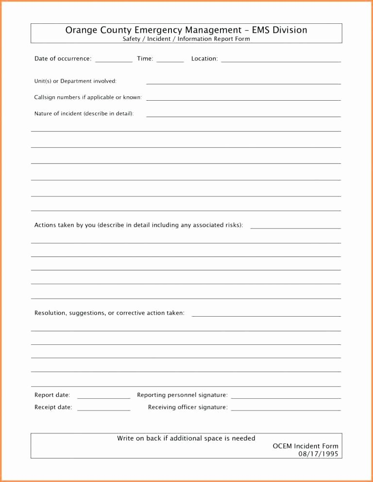 Incident Response Report Template Beautiful Incident Response Report Template with Police form
