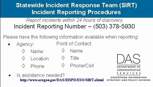 Incident Response Report Template Inspirational State Of oregon Oscio Security Incident Response