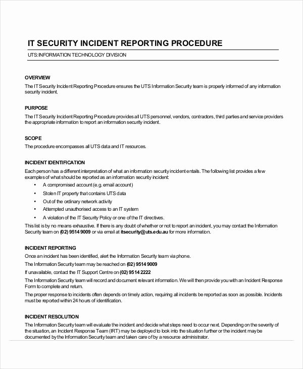 Incident Response Report Template Luxury 39 Incident Report Examples & Samples Pdf Doc Pages