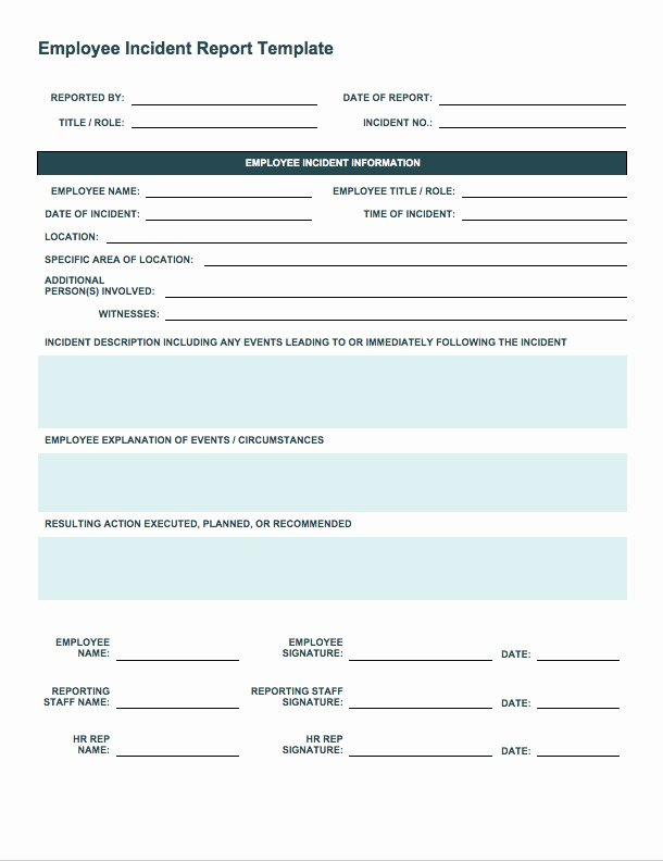 Incident Response Report Template Luxury Free Incident Report Templates Smartsheet