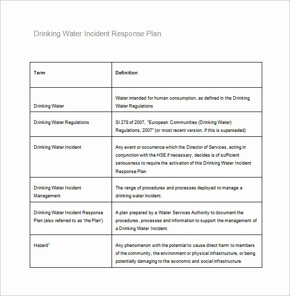 Incident Response Report Template Luxury Incident Response Plan Template