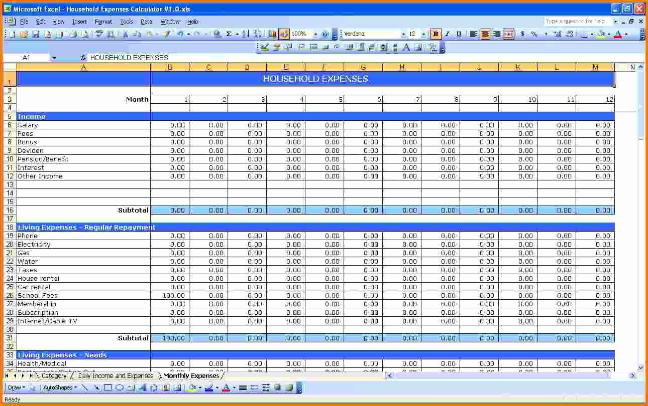 Income and Expense Template Unique Expense Small Business Spreadsheet for In E and Expenses