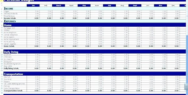 Income Expense Report Template Lovely Daily In E and Expense Excel Sheet Personal Expenses