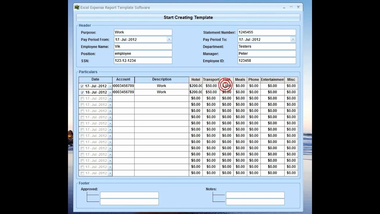 Income Expense Report Template Lovely Excel Expense Report Template software