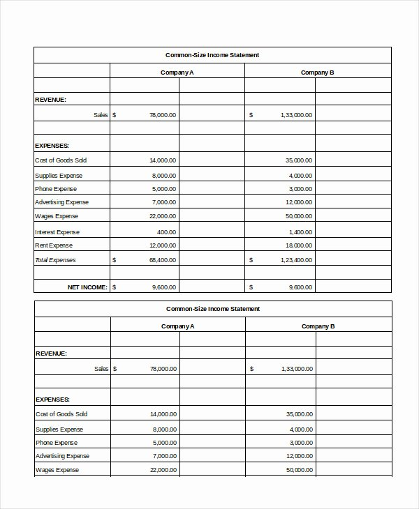 Income Statement Excel Template Beautiful Excel In E Statement 7 Free Excel Documents Download