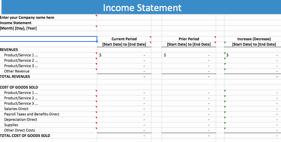 Income Statement Excel Template Unique 5 Free In E Statement Examples and Templates