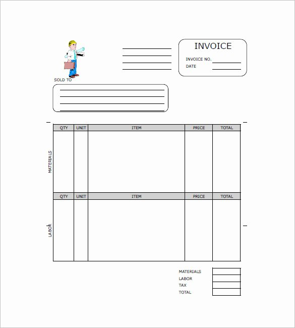 Independent Contractor Invoice Template Free Best Of Contractor Invoice Template – 8 Free Sample Example