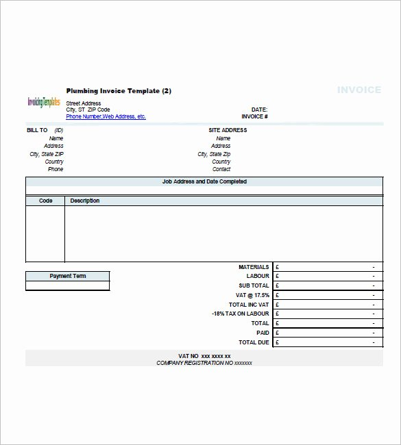 Independent Contractor Invoice Template Free Elegant Free Contractor Invoice Templates