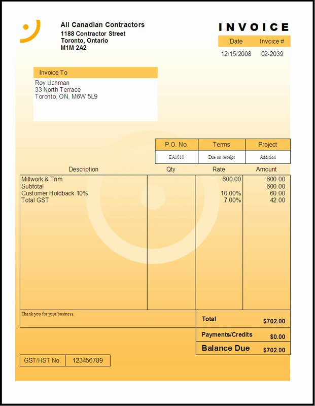 Independent Contractor Invoice Template Free Elegant Free Independent Contractor Invoice