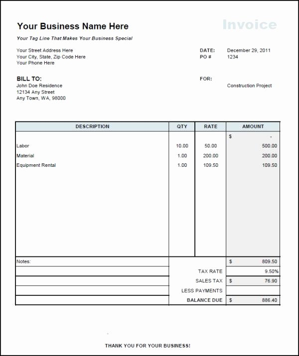 Independent Contractor Invoice Template Free Inspirational 1099 Invoice Template Independent Contractor Excel Example