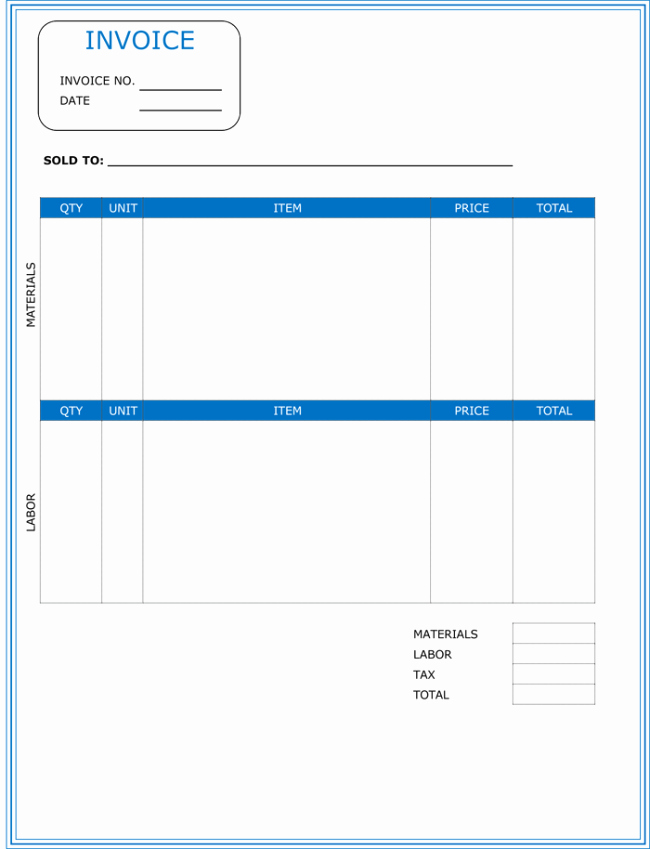 Independent Contractor Invoice Template Free Inspirational Invoice Template Contractor