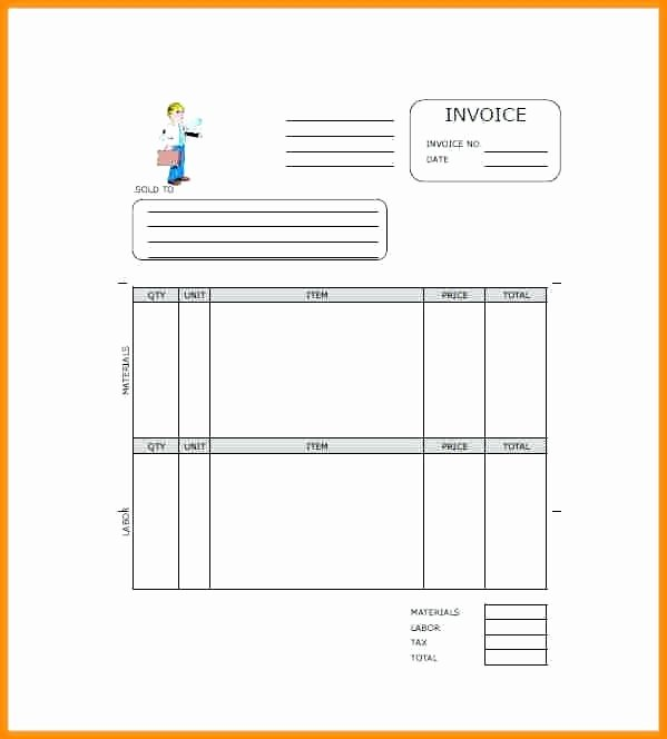Independent Contractor Invoice Template Free Inspirational Roofing Invoice Sample Free Independent Contractor Excel