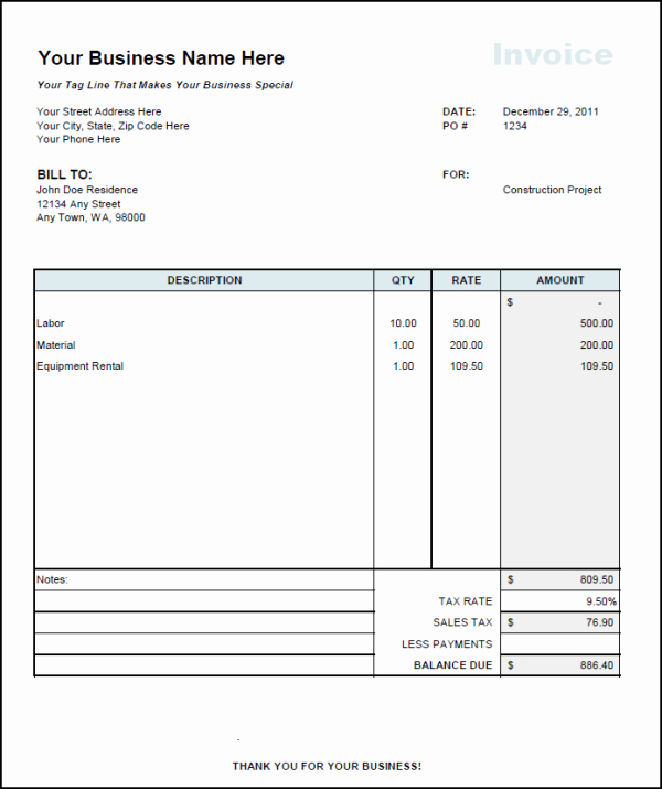 Independent Contractor Invoice Template Free Lovely Independent Contractor Invoice Template